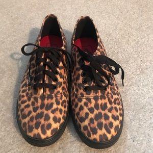Cheetah print vans